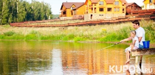 Проживание для компании до 5 человек в усадьбе «Торопаца»: все необходимые удобства, посещение русской бани и бесплатная рыбалка! **Скидка до 60%**