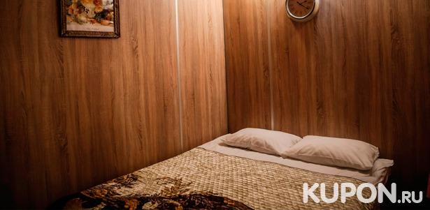 Скидка до 56% на отдых компании до 4 человек в улучшенных апартаментах с кухней в отеле «Петровский»
