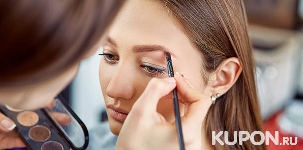 Мастер-класс по макияжу на выбор в «Школе красоты Марины Борисовой»: основы моделирования лица и бровей, smoky eyes, определение цветотипа и не только. Скидка до 73%